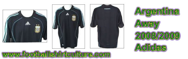 This seems to be the new Argentina away shirt for the 08/09 season made by Adidas. It's not officialy out yet, but it looks like this is it