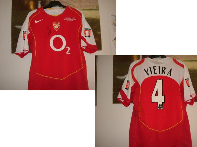 A MATCH WORN FA CUP FINAL SHIRT 2005 FROM PENALTY HERO AND CAPTAIN PATRICK VIEIRA