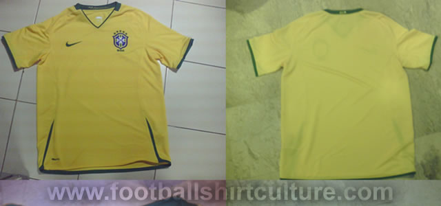 New brazil home shirt by nike for the 2008/2009 season ?