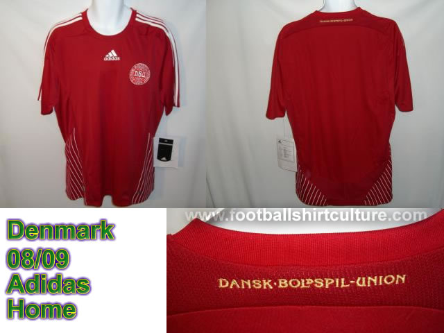 New Denmark home shirt 08/09 made by adidas