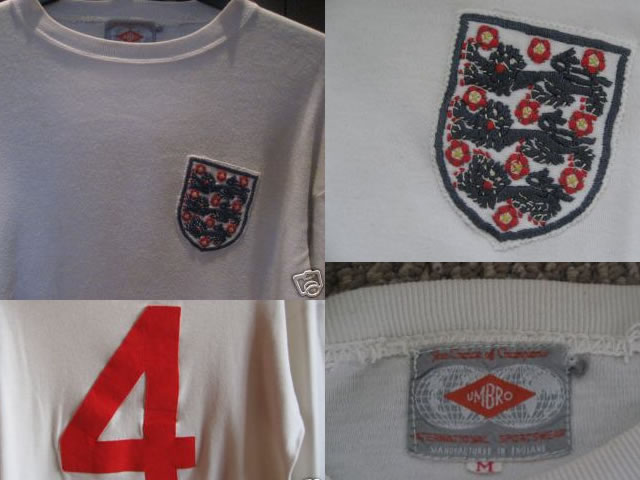 match worn No 4 Nobby Stiles white home shirt from the successful 1966 World Cup campaign