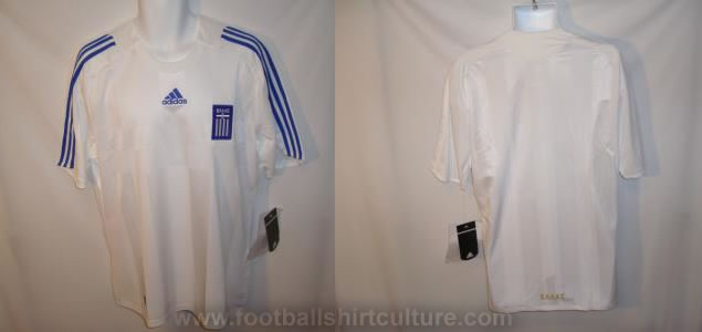 Greece home shirt Euro 2008 made by Adidas