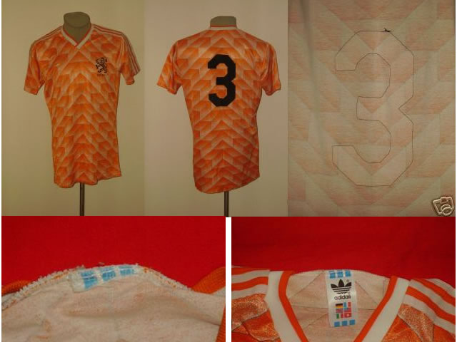 Holland 1988 EC home-shirt worn/issued playershirt #3