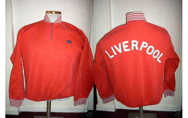 This original GENUINE player / club shirt is the LIVERPOOL *TRAINING TOP* from the early to mid 1970s.
