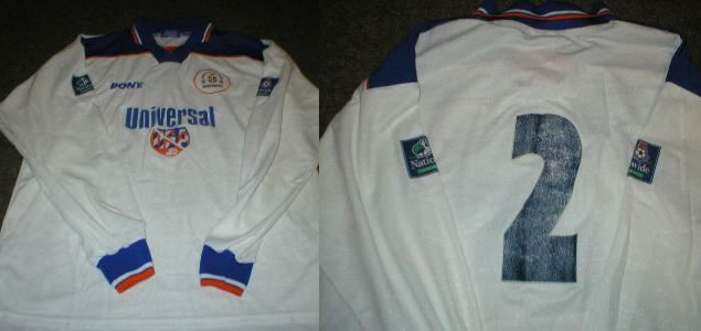 LUTON TOWN 97-99 MATCH WORN L/S HOME SHIRT #2 PONY XL