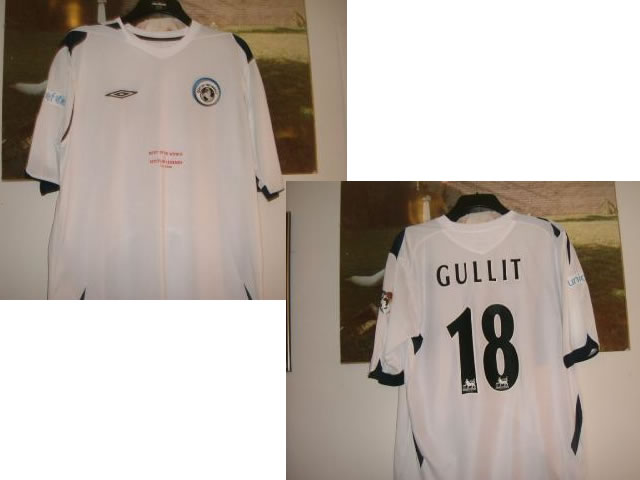 A MATCH WORN GULLIT SHIRT FROM THE REST OF THE WORLD V SCOTLAND LEGENDS GAME - 25/5/2006