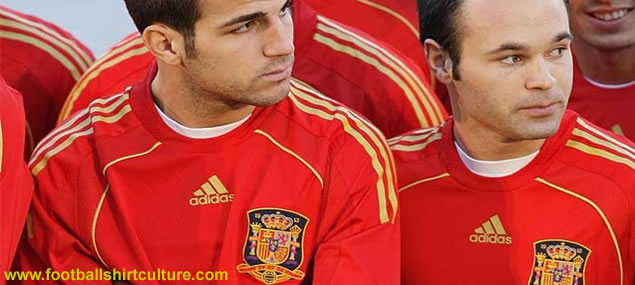 New spain home kit 08/09 by adidas