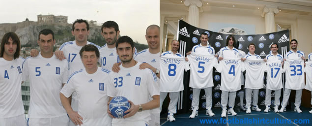 New Greece home shirt euro 2008 by Adidas