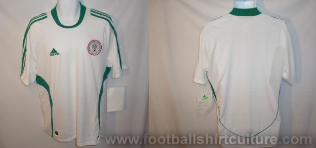 new Nigeria away shirt for the 08/09 season made by Adidas
