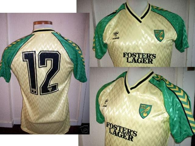 NORWICH CITY Home Shirt 1986 Hummel PLAYER ISSUE No 12