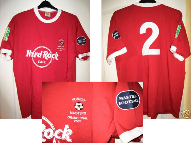 Rare Nottingham Forest Masters Shirt- Final Match Worn