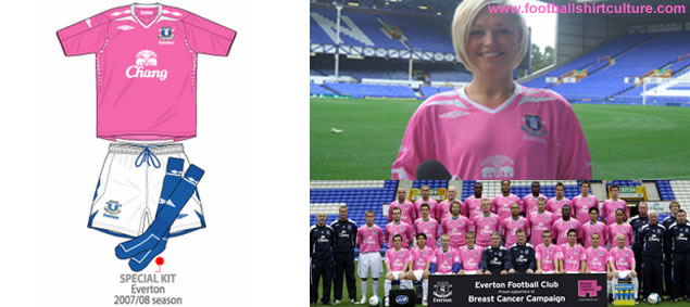 1000 pink Umbro everton shirts for sale