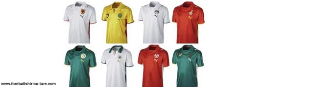 PUMA have released their new kit designs for the eight teams in their stable at the 2008 African Nations Cup finals in Ghana next year.