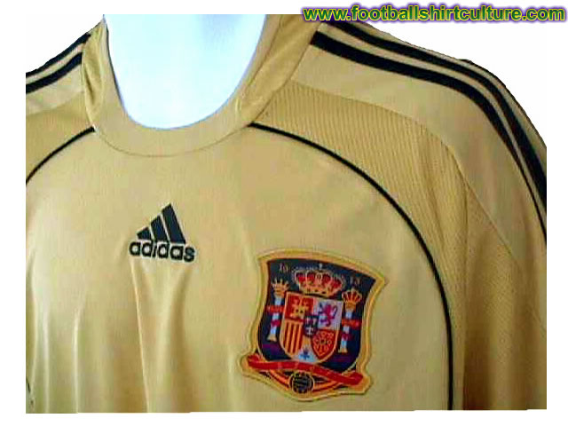 This seems to be the new Spain away shirt for the 08/09 season made by Adidas. It's not officialy out yet, but it looks like this is it.
