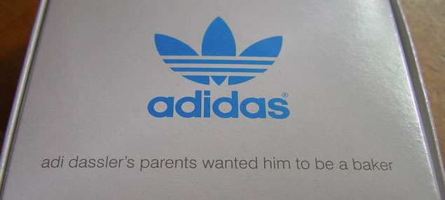 The cookie cutters were created with adidas' founder Adi Dassler's parents in mind. Apparently the Dassler parents originally wanted their son to be a baker rather then create world's biggest football brand.