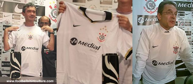 Medial Saúde (Medial Health), with colours adapted, is new sponsor of Corinthians