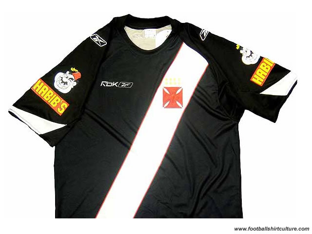 Vasco Da Gama unveiled their new away shirt for the 08/09 season with the sponsorship of Habib' s on the two sleeves