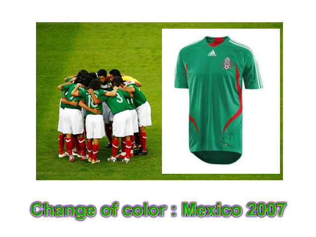 Mexico will ditch its traditional green jersey, as coach Hugo Sanchez has claimed players are struggling to distinguish it from the grass on the field. The Mexican national team will wear white jerseys for home games and red while playing on the road.