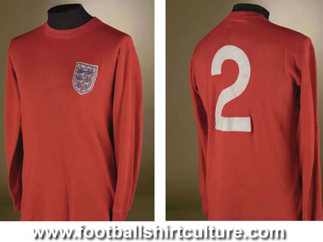 England WC 1966 home shirt made by Umbro