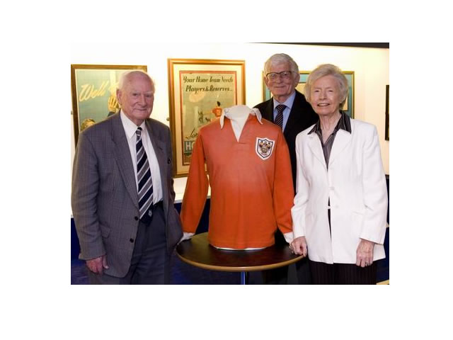 Sir Tom Finney was the special guest at the opening of the collection along with Stanley Matthew's daughter Jean Gough and Cyril Robinson who played alongside Stanley Matthews in the final of 1953.