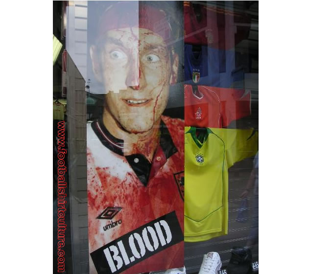 Photographed in a Cambridge sports-goods store in 2004.