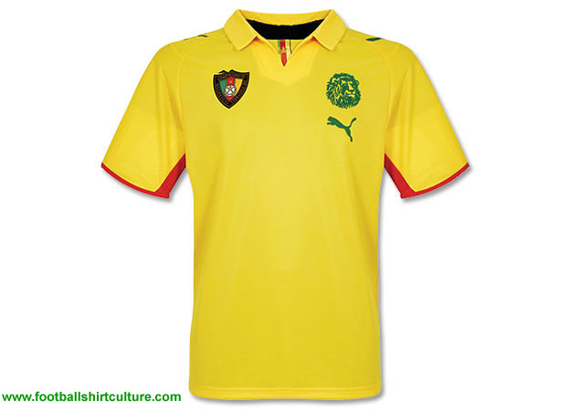This is the new Cameroon away shirt for the 2008 Africa Cup in Ghana made by Puma