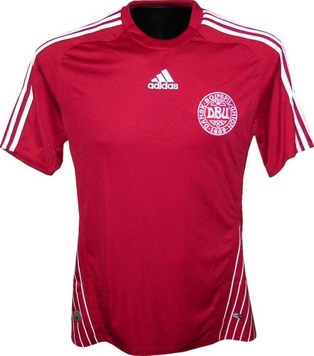 New Denmark home shirt 08/09 by Adidas