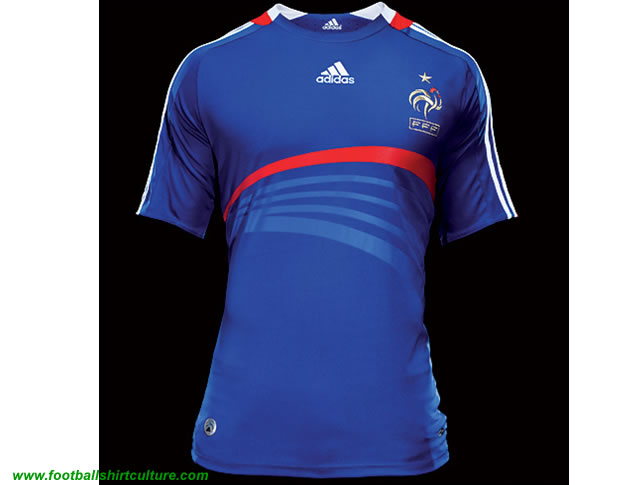 New France home shirt 08/09 by adidas