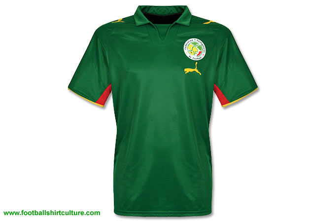This is the new Senegal away shirt for the 2008 Africa Cup in Ghana made by Puma