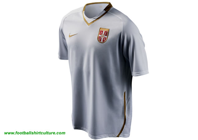 New Serbia away 08/09 shirt made by Nike