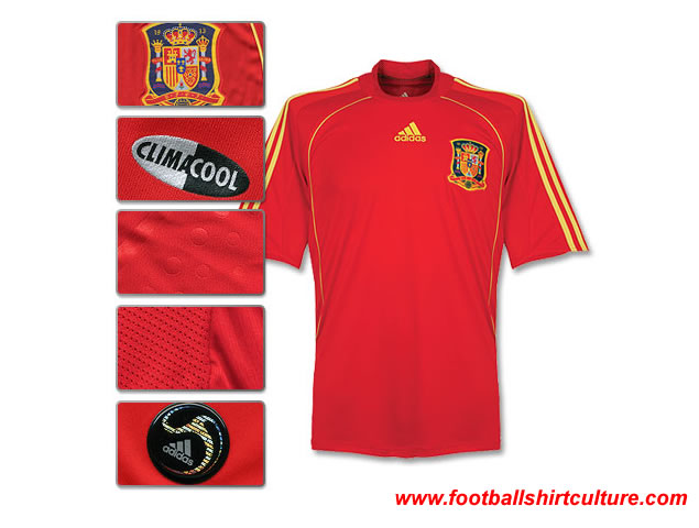 new spain shirt 08/09 and Euro 2008 by adidas