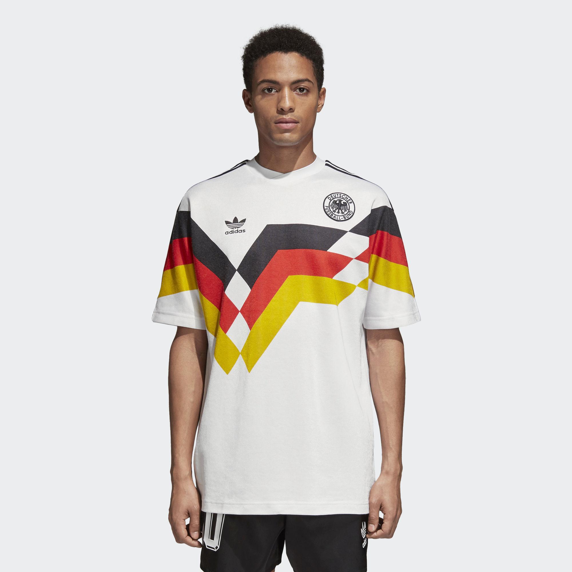 Germany 1990 Adidas Originals Home Replica Jersey   Retro ...