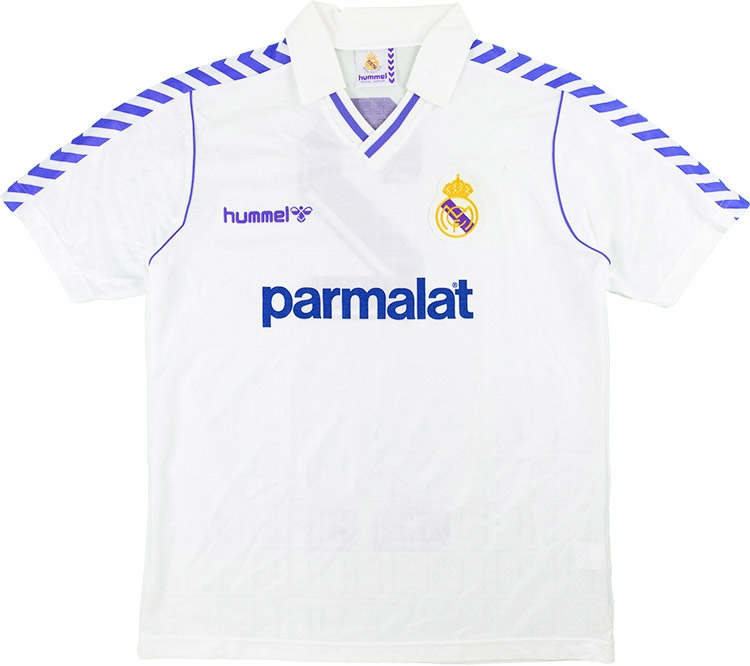 13315f65c56 hummel 1988-89 real madrid match issue home shirt