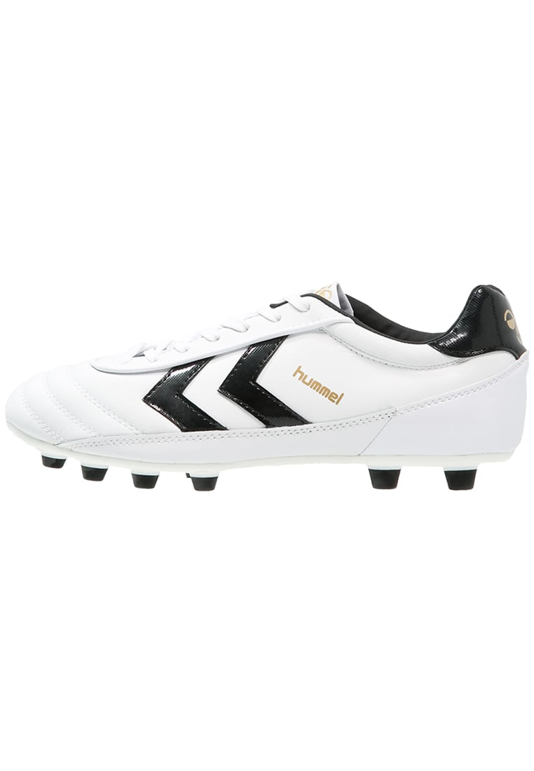 12741225f Hummel Old School Dk Fg White Football Shoes White Hummel H75o4771 ...  hummeloldschooldkfgfootballbootswhiteblackgolde.jpg · Click to enlarge  image ...