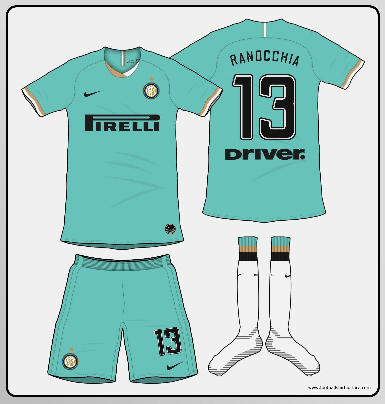 pretty nice 595b5 a9407 Inter Milan 2019-20 Away Kit Prediction | Kit design ...