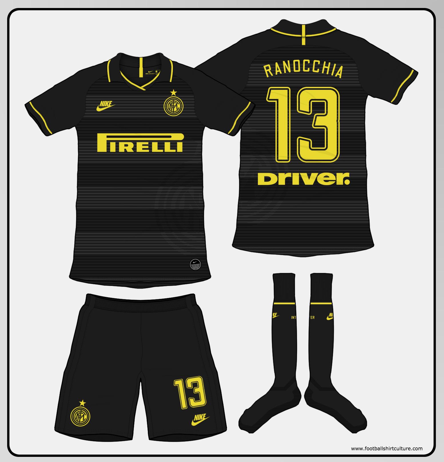 sports shoes e2093 9a626 Inter Milan 2019-20 Third Kit Prediction | Kit design ...