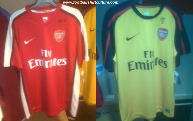 new Arsenal 08/09 home and away shirts made by Nike