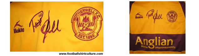 As a tribute and mark of respect, Motherwell FC can announce the players and officials will adorn strips complete with Phil O'Donnell's embroidered signature on their chest for the rest of the season.