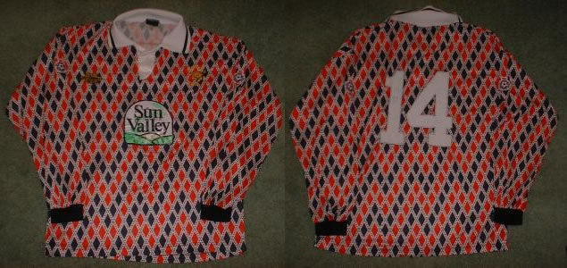 HEREFORD UNITED SHIRT / JERSEY WORN BY LEROY MAY ON 05/12/93 FOR THE FA CUP TIE AGAINST BATH CITY.