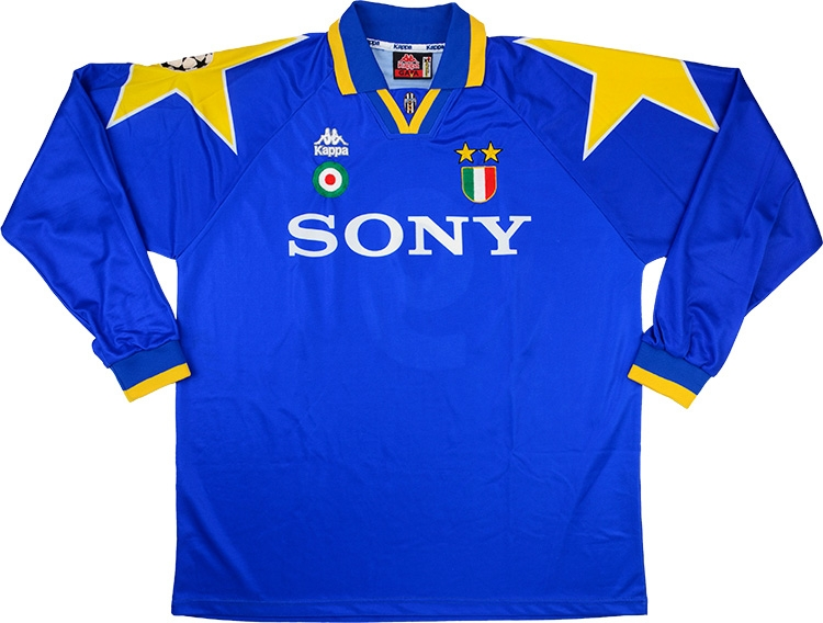 cb810d8f0 Click to enlarge image  kappa 1995 96 juventus match issue champions league final away shirt a.jpg  ...