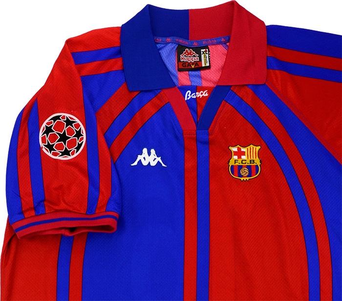 online store a5d0a e30ab Kappa 1997-98 Barcelona Match Worn Champions League Home ...