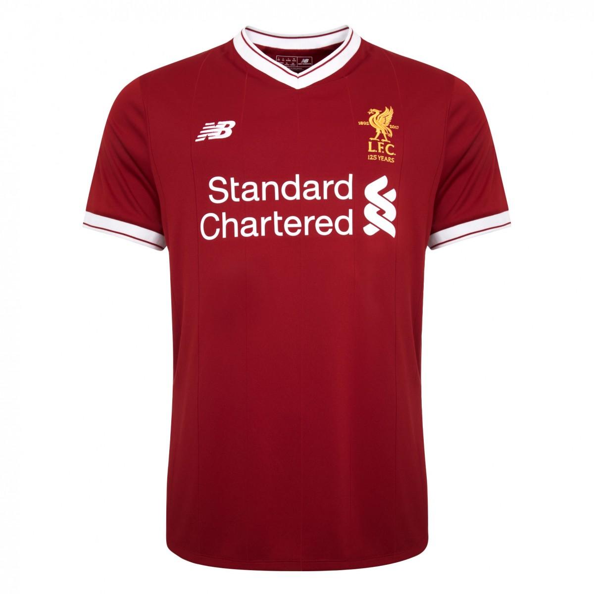 Liverpool 17/18 New Balance Home Kit | 17/18 Kits | Football shirt ...