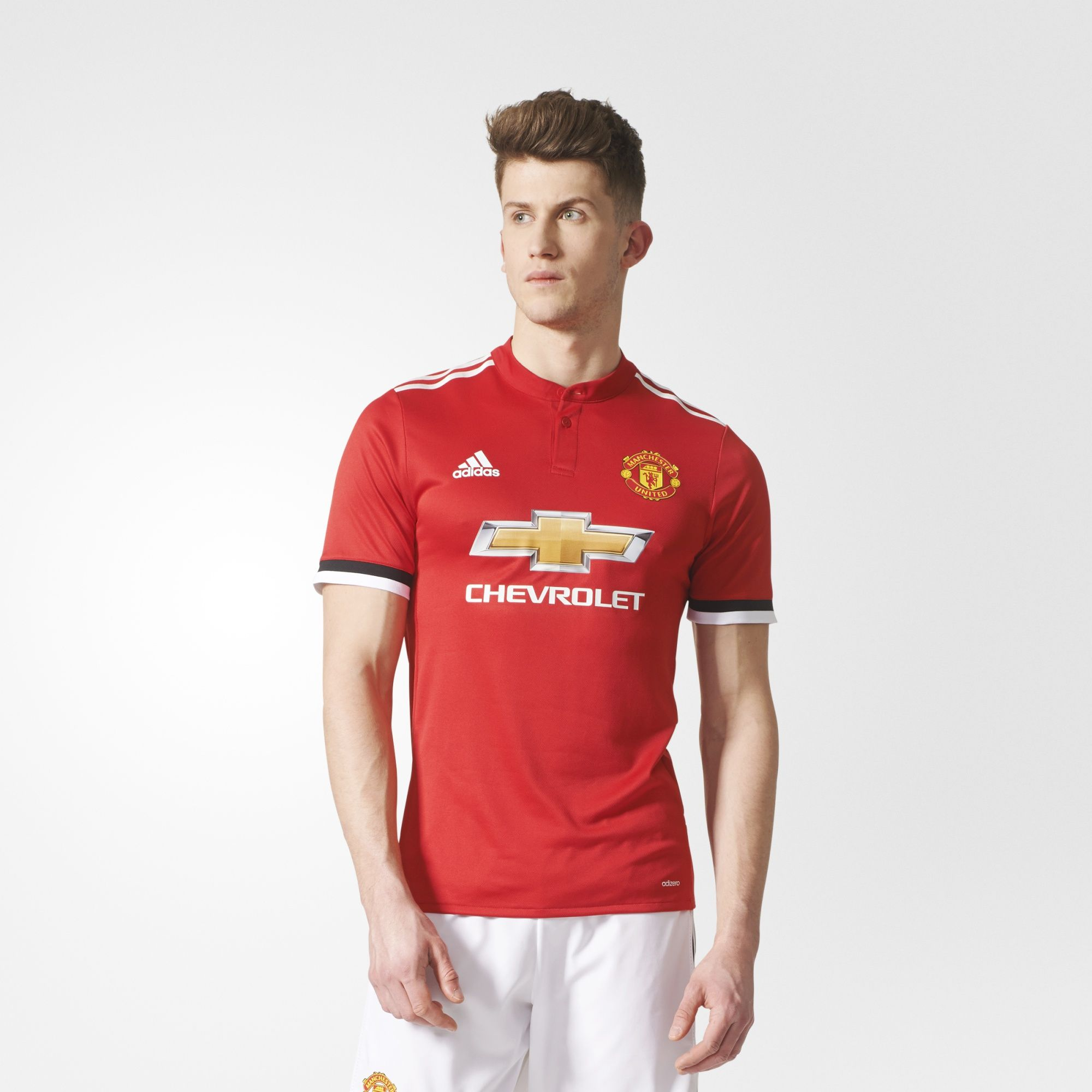 best sneakers f5f35 6f2aa Manchester United 17/18 Adidas Home Kit | 17/18 Kits ...