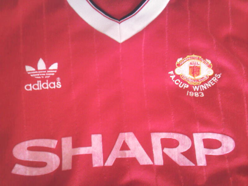6d74be037 Manchester United 83 84 FA Cup winners Adidas shirt