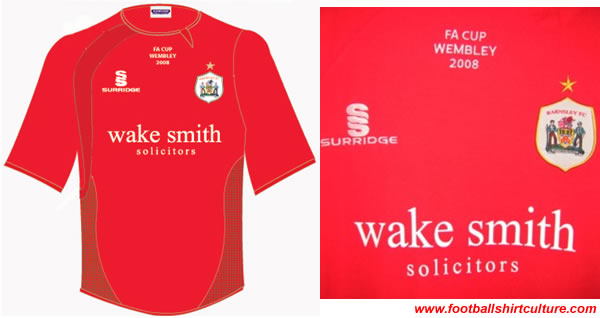 Barnsley FC unveiled their Commemorative FA Cup 2008 Home Shirt made by surridge