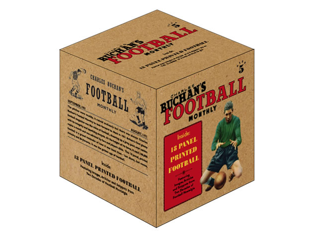 18 panel PU leather football in a gift box. A real football with superb print quality. Can either be read and admired or kick around the park!