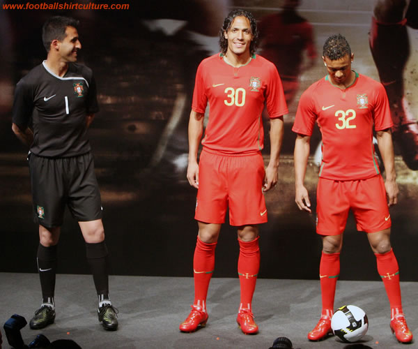 New Portugal home kit for Euro 2008 made by nike