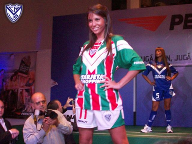 Vélez Sársfield launched their new 08/09 season football kits made by Penalty.