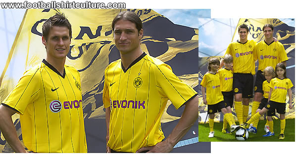 The BVB home jersey for the 2008/2009 season was presented today at a press conference