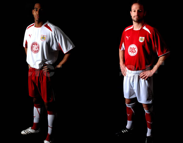 Bristol City unveiled their new home and away shirts for the 2008/09 season made by Puma
